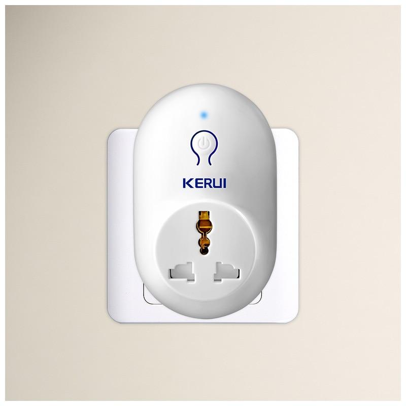 KERUI S71 EU US UK AU Standard Power Socket Smart Switch Travel Plug Socket Work With KERUI Security Burglar Alarm System
