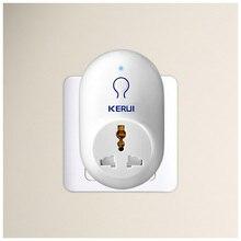KERUI enchufe de viaje inteligente con sistema de alarma antirrobo, toma de corriente estándar UE, EE. UU., Reino Unido, AU, KERUI