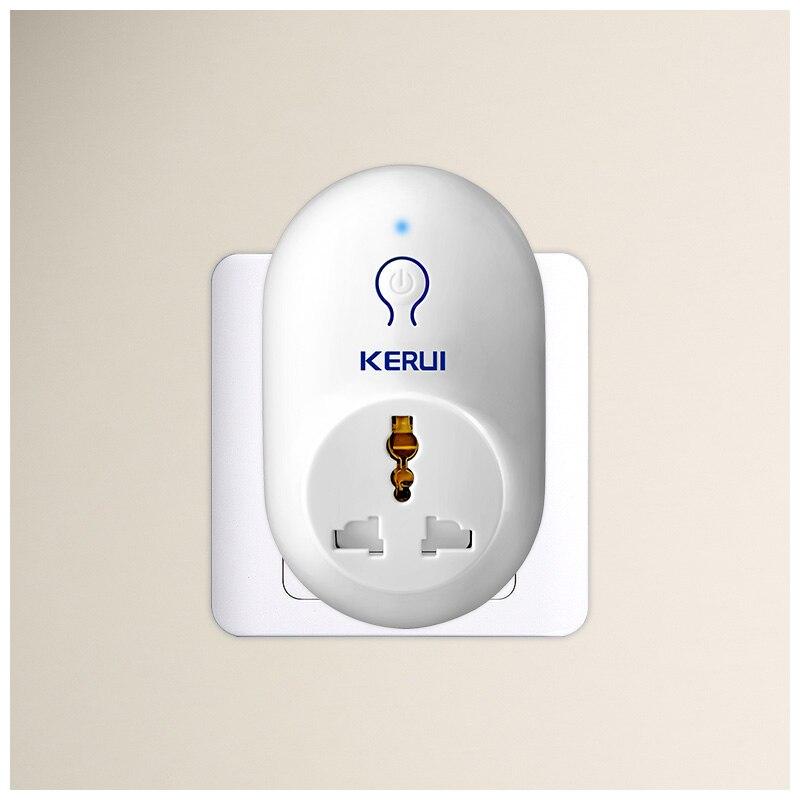 Kerui s71 ue eua reino unido au padrão tomada de energia interruptor inteligente viagem tomada trabalho com kerui segurança sistema alarme do assaltante