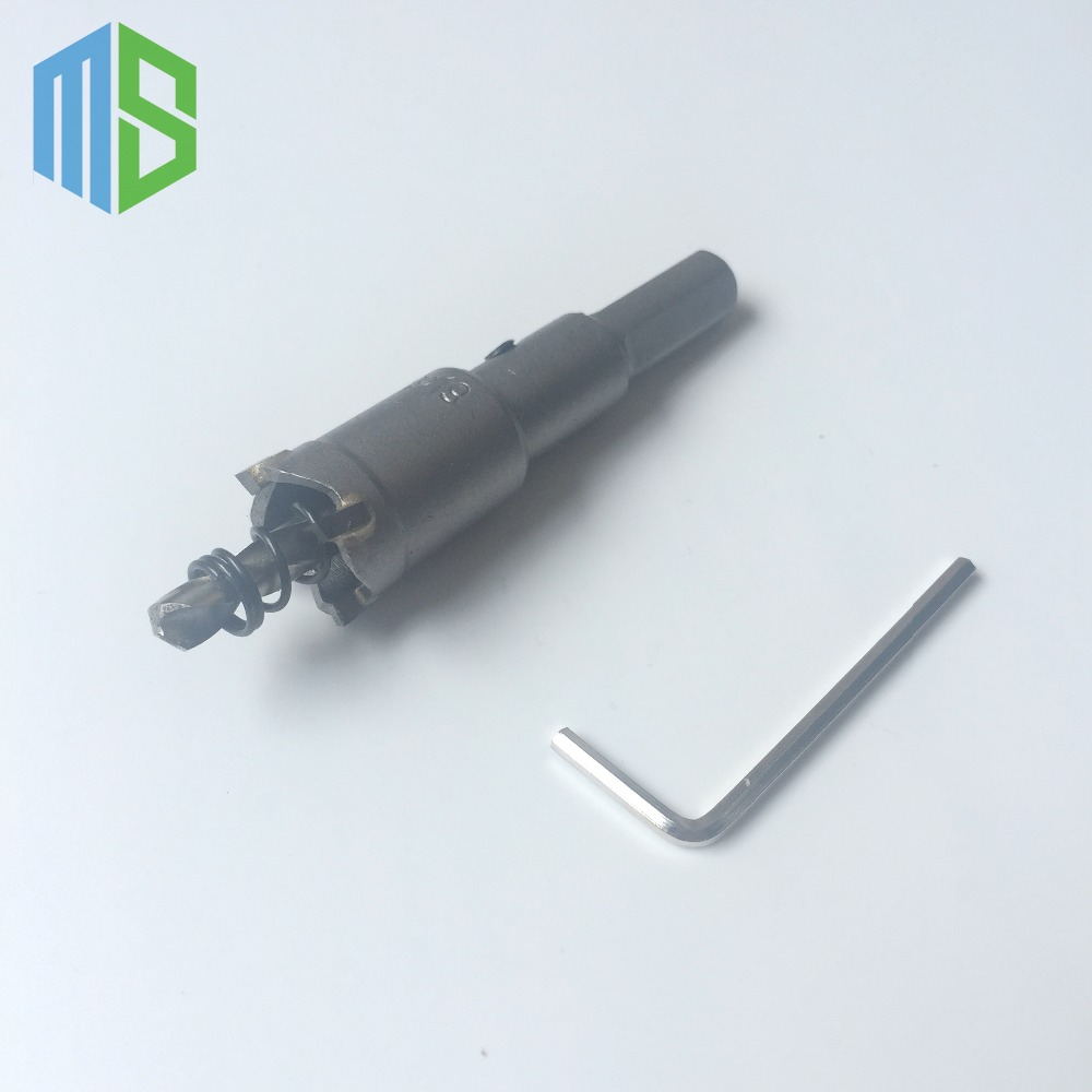 19mm Metalworking tungsten Carbide Tip Drill Bit TCT Hole Saw Set for Stainless Steel Metal Alloy Drilling