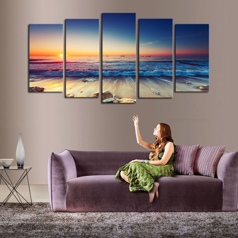 Aliexpress.com : Buy 5 Panels(No Frame)The Seaview Modern Home Wall Decor  Painting Canvas Art HD Print Painting Canvas Wall Picture For Home Decor  From ...