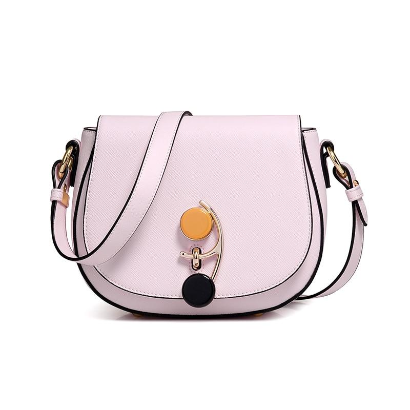 Women's new wild double color hardware lock pig bag Korean simple's color saddle wedding figure mini bag цена и фото