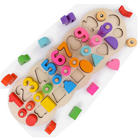 Hot Sale Math Montessori Materials Learning Toys To Match Digital Shape Educational Parent child interaction Toys For Chidlren