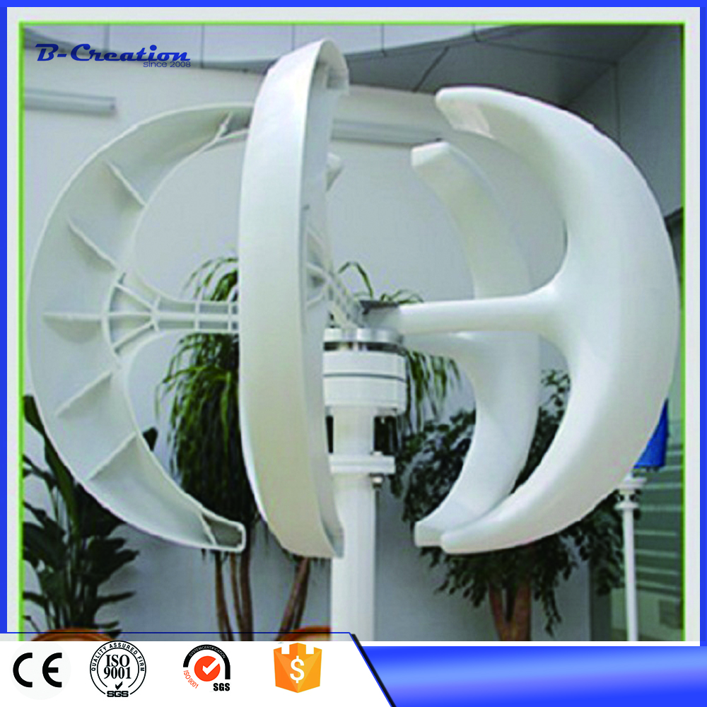 Alternateur pour générateur de vent Generador Eolico 300 w 12/24vdc axe Vertical générateur de vent Vawt + contrôleur étanche