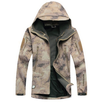 Atacs Waterproof Soft Shell Tactical Jacket Outdoor Hunting Sports Army SWAT Military Training Windproof Outerwear Coat