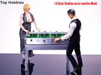 1/6 Scale Scene Accessories In 12 Inch Action Figures Desktop football Soccer Machine + Metal Square Table Set Paint Surface
