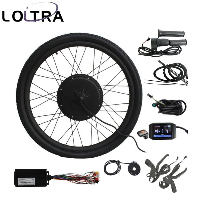 "48V 1500W 26"" Electric bike conversion kit  Intelligent Programmable Regenerative Controller Colorful LCD"
