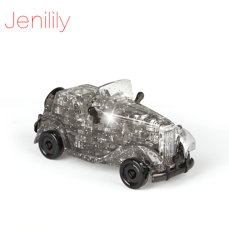 Funny 54pcs DIY Funny Classic Cars 3D Crystal Puzzles Assembled Model Birthday New Year Gift Children Play Set Toys for kids