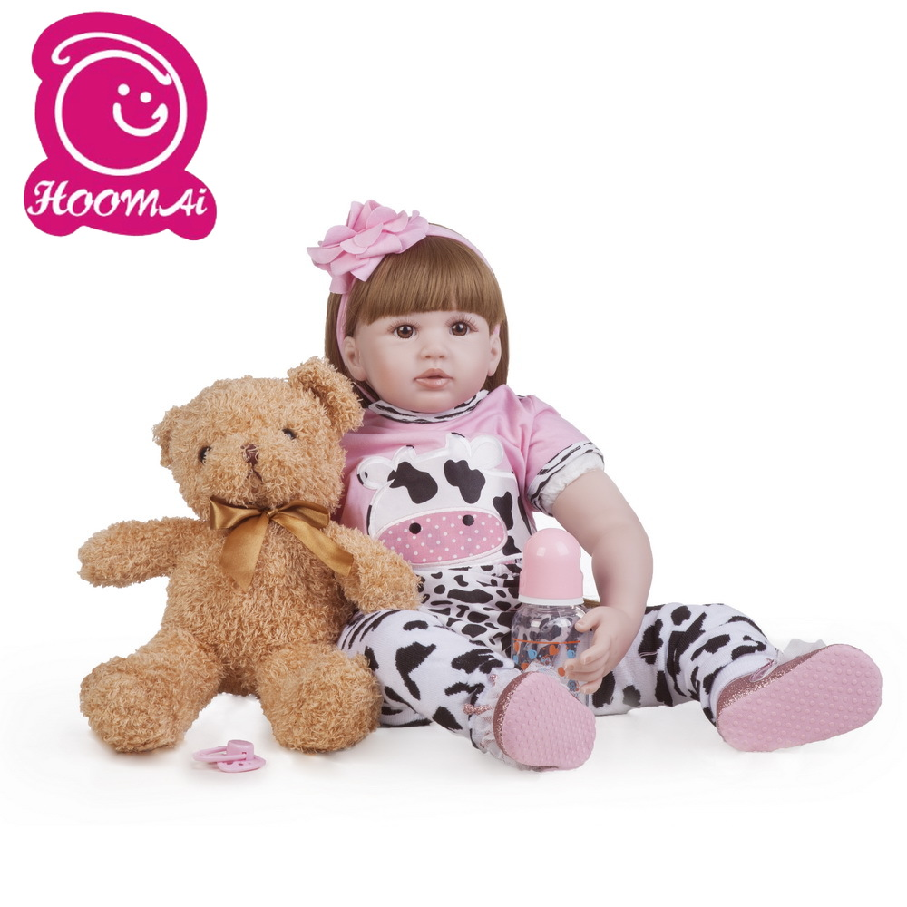 60cm Silicone Vinyl Reborn Baby Doll Toys For Girl Princess Toddler Alive Babies Like Real Birthday Gift Brinquedos Play House