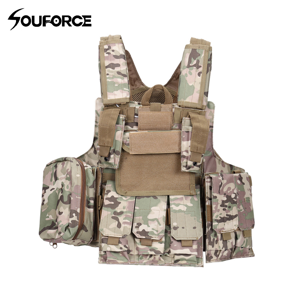 Amphibious Tactical Military Molle Waistcoat Combat Assault Plate Carrier Vest Protective Equipment for Outdoor Hunting professional waterproof dive flash light xhp70 led diving flashlight tactical torch with 4 18650 battery charger for camping