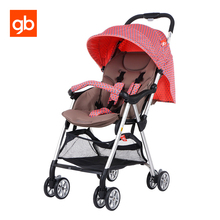 GB Baby Umbrella Strollers Quick Fold Adjustable Baby Pram Pushchair 3.1kg Super Light Portable Carriage Stroller For Newborn(China)