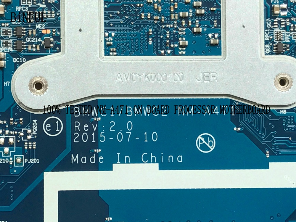 BiNFUL PROMISED 100% NEW BMWC1/BMWC2 NM-A471 LAPTOP MOTHERBOARD FOR LENOVO 300-15IBR NOTEBOOK PC On Board Cpu N3060