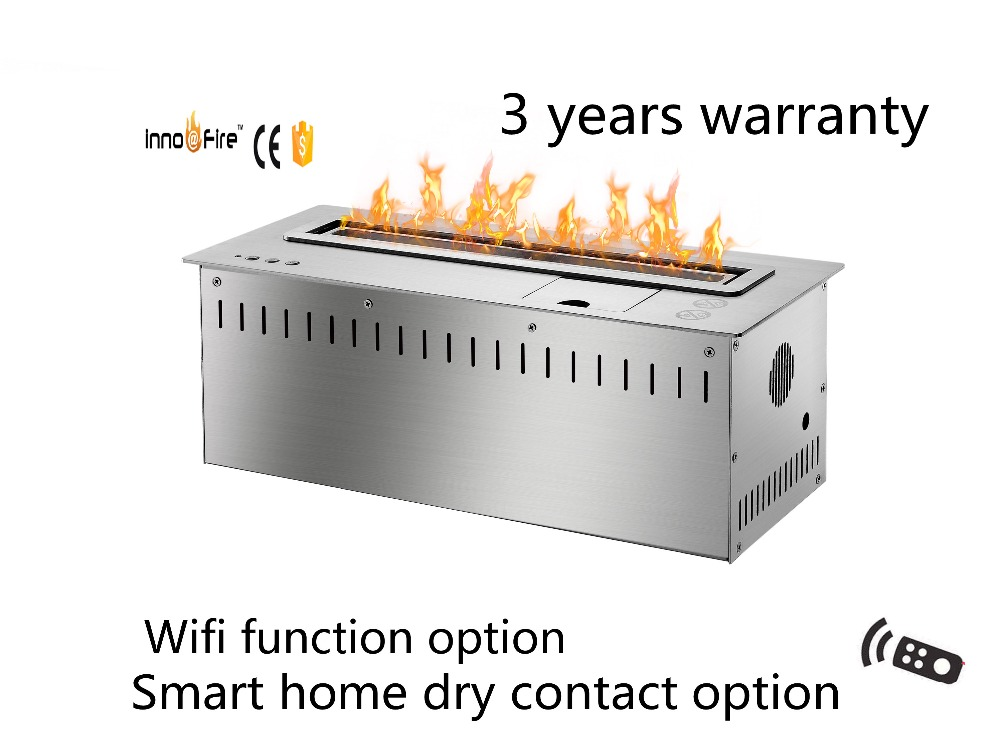 18inch Long Silver Or Black Remote Control Intelligent Insert Ethanol Fireplace