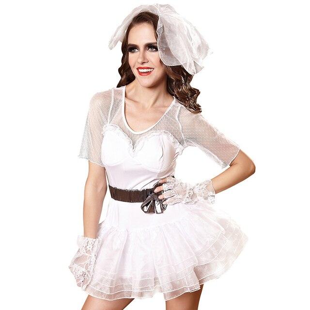 Sexy Cosplay Kleid Frauen Weiß Braut Sex Kleidung Slutty Sexy ...