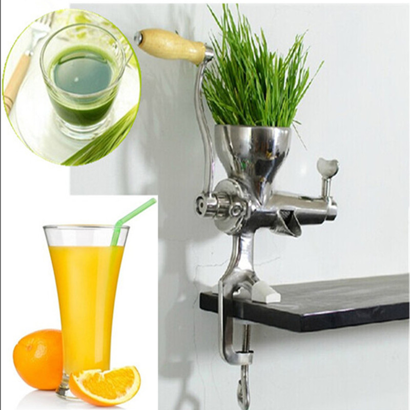 Easy operation kitchen use manual stainless steel health wheatgrass juicer fruit vegetable commercial juicing machine  ZF 1 set stainless steel manual movable sugarcane juicer made in china popular commercial use blender machine for sugarcane