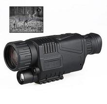 Wholesale prices Free Shipp digital monocular infrared night vision telescope 5X40 night vision scope Takes Photos Video with TFT LCD for hunting