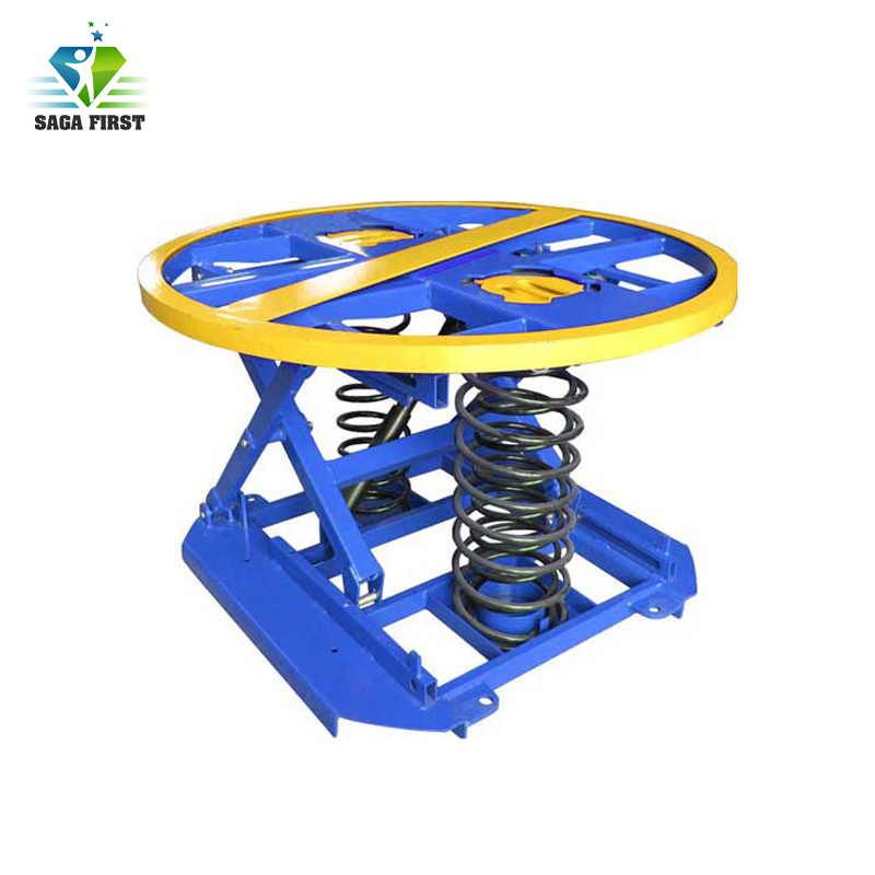 Self Balanced Air Spring Scissor Lift Pallet Positioner
