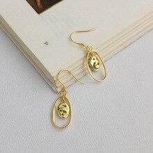 Gold Plating Drop Earrings 925 Sterling Silver Zircon Stone Moon Star Dangle Earring For Women Personality Fashion Jewelry