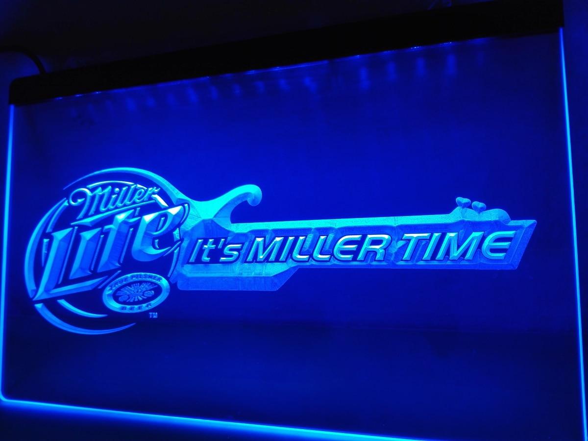 Le017 Miller Lite Beer Bar Guitar Led Neon Light Sign Home