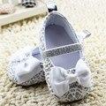 Blanco Bling Del Recién Nacido Niñas Bowknot Zapatos de Bebé Primeros Caminante Infante Suave Suela Los Zapatos Del Pesebre Calzado Sapatos Menina