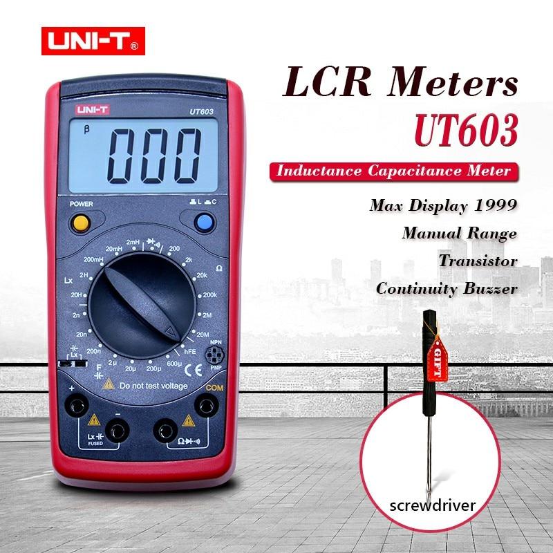 uni t ut603 - UNI-T UT603 Modern Resistance Inductance Capacitance Meters Testers LCR Meter Capacitors Ohmmeter w/hFE Test
