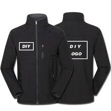 עיצוב לוגו מותאם אישית מודפס גברים של סתיו מעילים עמיד למים Windproof מעיל רוכסן Softshell Degisn הלבשה עליונה חולצות