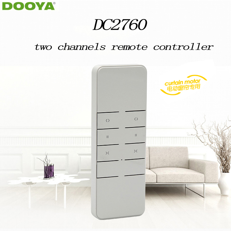 Dooya Sunfloer Smart Home Electric Curtain Motor Remote Controller DC2760  Two -channel Emitter