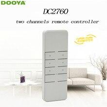 Dooya sunfloer casa inteligente cortina elétrica do motor controlador remoto dc2760 emissor de dois canais