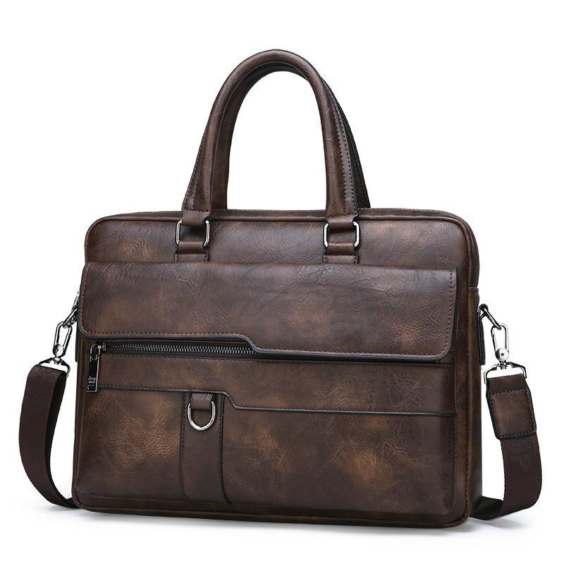 HTB1lQwCeL1G3KVjSZFkq6yK4XXaQ New Men Briefcase Bags Business Leather Bag Shoulder Messenger Bags Work Handbag 14 Inch Laptop Bag Bolso Hombre Bolsa Masculina