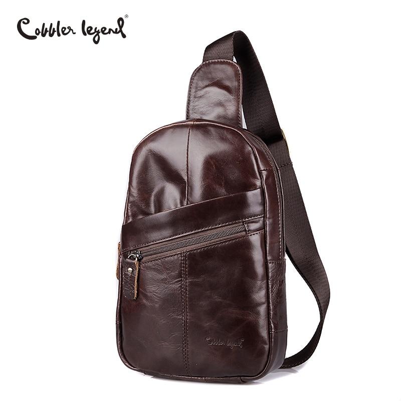 Cobbler Legend 2018 Genuine Leather Crossbody Bags Men Casual Messenger Bag Brand Designer Male Shoulder Travel Bag Fashion цена