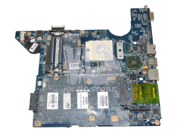 все цены на  510567-001 512105-001 Main Board For HP CQ40 Laptop Mootherboard Socket S1 DDR2 LA-4111P with Free CPU  онлайн