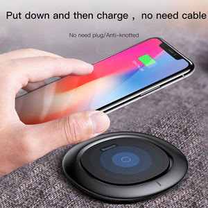 Image 3 - Baseus QI Wireless Charger for iPhone X 8 Samsung Galaxy S9 S8 Mobile Phone Desktop charger carregador sem fio fast charging