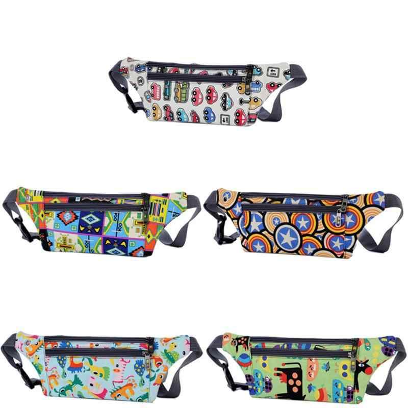 1 Pc Saco Da Cintura Dos Desenhos Animados Impresso Cidade Corrida Sacos de Cruz Bolsa de Ombro Saco Do Telefone Móvel Saco de Desporto Para As Mulheres Meninas