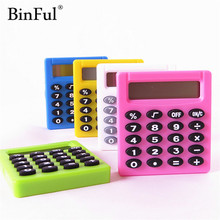 BinFul Карманный мультяшный мини-калькулятор Ha ndheld Карманный Тип Монета калькулятор на батареях