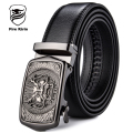 FIRE KIRIN Genuine Leather Belt Men Automatic Buckle Designer Belts Men High Quality Chinese Style Vintage Cinturones Hombre B42