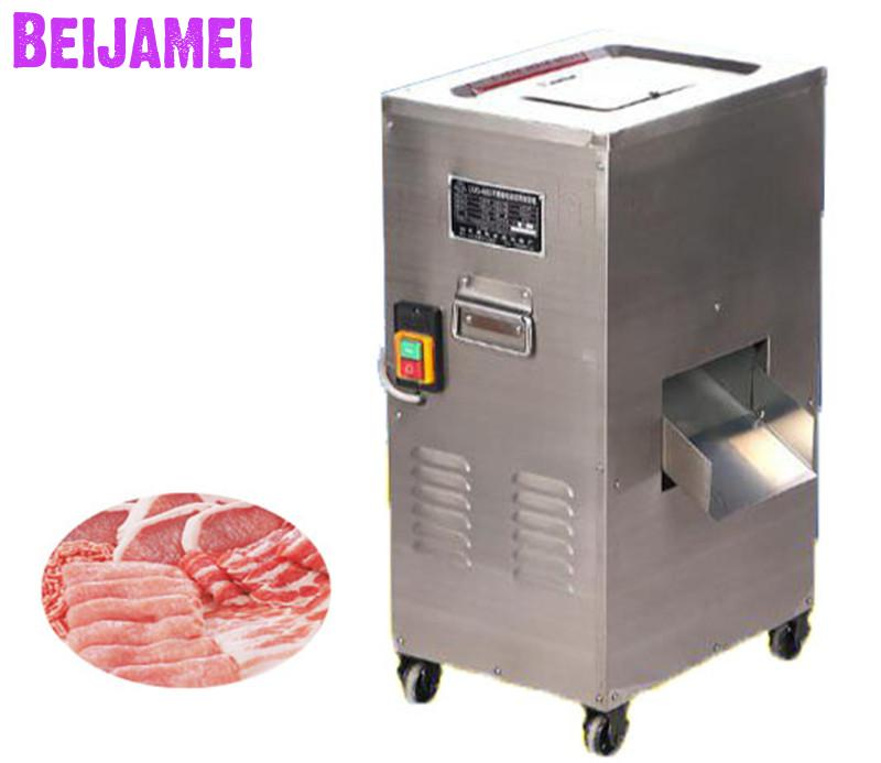 BEIJAMEI Single And Double Cutting Commercial Meat Slicing Cutting Machine Industrial Meat Shred Machine Price