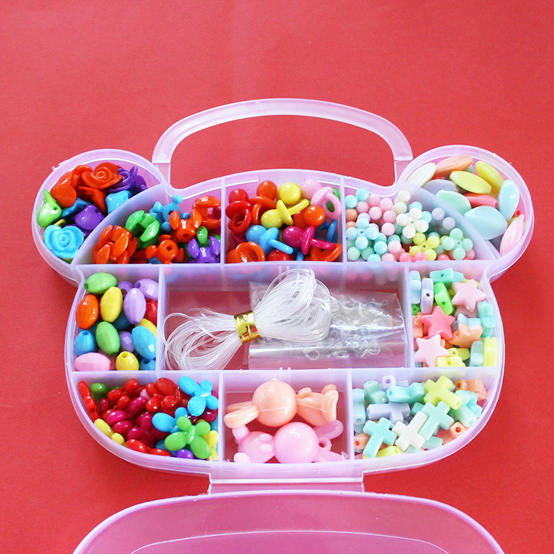 Kid DIY Beads Kit Set Children Intelligence Acrylic Beads Kit BOX ...