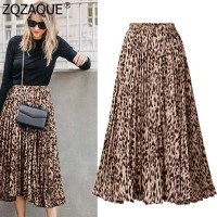 Plus Size Leopard Skirt 2019 European Women's Sexy Skirts A Line Printing Long Skirt S XXXL Female All match Beach Skirt SY1892