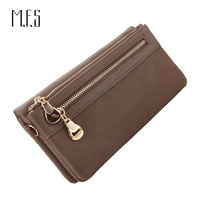 MFS Fashion Women Double Zipper Long Wallets Hasp Ladies Coin Purse Leather Large Capacity Clutch For