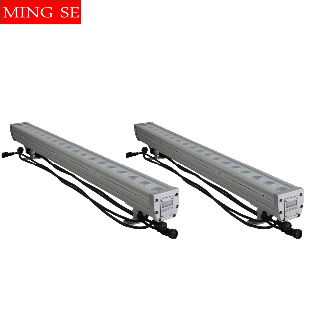 Commercial Lighting Lovely 2pcs/lots 18x12w Rgbw 4in1 Ip65 Waterproof 3in1 Led Bar Wall Washer Led Outdoor Flood Light Dj Bar Show Stage Light Good Heat Preservation