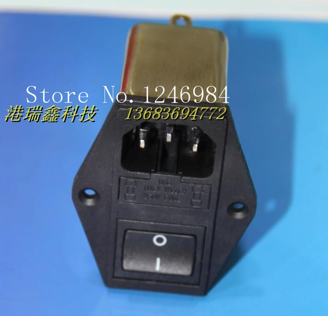 [SA]AC power outlet CANNY WELL triple double seat belt switch power supply filter CW3C-06A-T--5pcs/lot cw15e 06a t emi power supply filter 110 250v 6a ac electrical equipment adapters power supplies