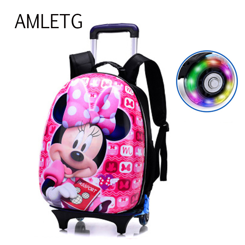 2018Hot Sale Children Mochilas Kids School Bags with Wheel Trolley Luggage for Boys Girls Backpack Mochila Infantil Bolsas Bolsa hello kitty children school bags mochilas kids backpacks with wheel trolley luggage for girls backpack mochila infantil bolsas
