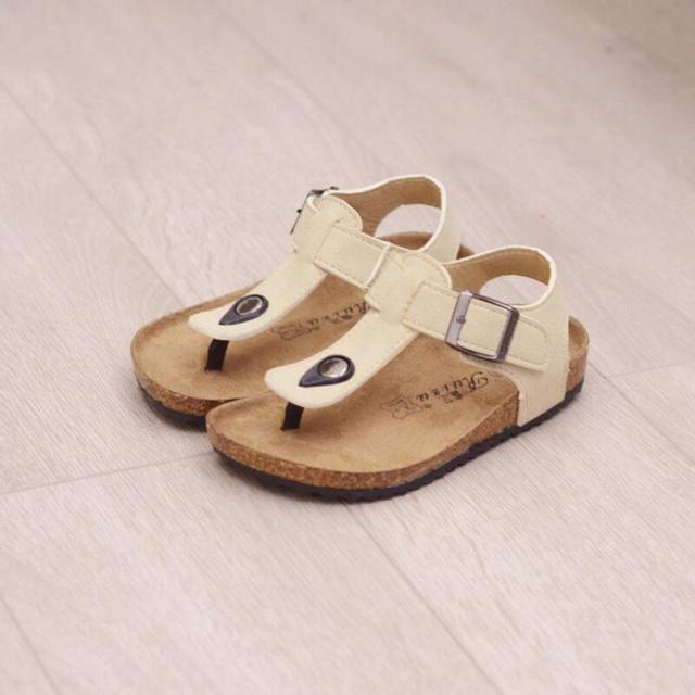 Мальчик сандалии 2017 летние дети девушки сандалии отдых пляж нескользящей детские сандалии