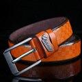 2016 Nuevos Mens Forman Cinturones 120 cm Ocio Salvaje Casual de Negocios de Alto Grado de Lujo Puro Antiguo Hebilla Cinturones de Cuero Caliente venta