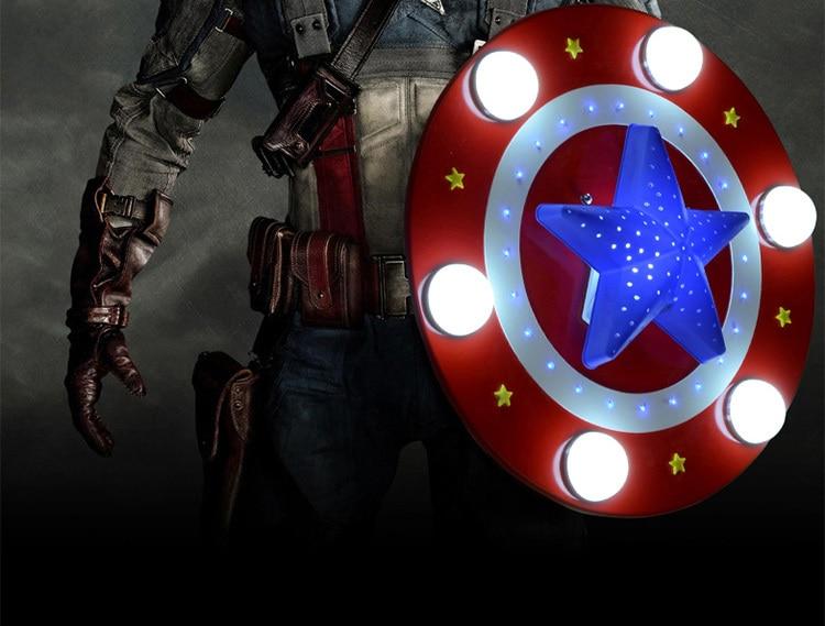 creative american captain child led ceiling light boys cartoon lamp kids bedroom lighting wood with f