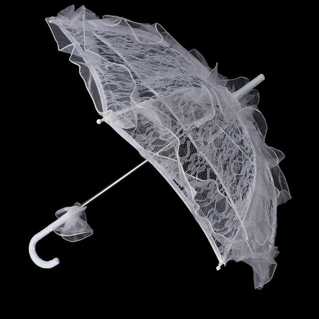 Romantic Lace Umbrella Bud silk lace Wedding Shooting Parasol Wedding Umbrella Parasol
