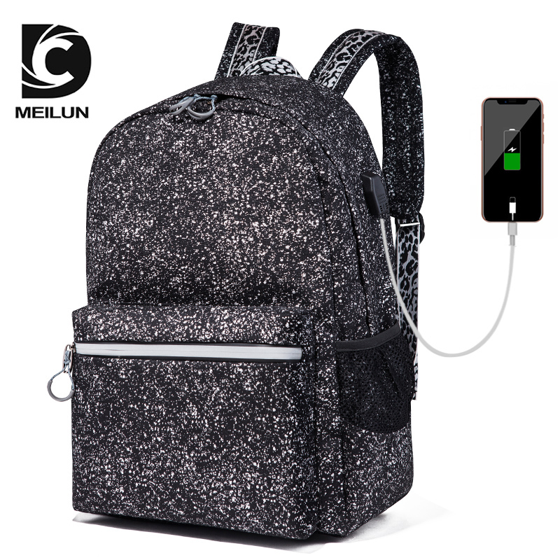 Laptop Backpack USB Charging Leisure Travel backpack School Bag for Men Women Large Capacity Backpack ML023