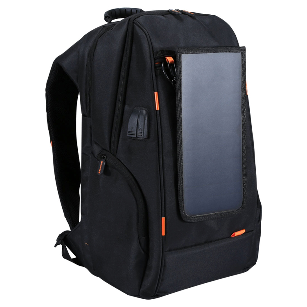 Outdoor Camera Backpack with Solar Panel USB Port Waterproof Breathable Travel Camera Bag Backpack Wear resisting