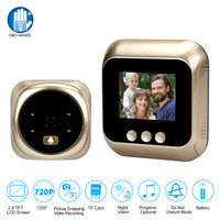 2.8 inch LCD Color Screen Digital Doorbell 135 Degree Door Eye Doorbell Electronic Peephole Door Camera Viewer Outdoor Wireless