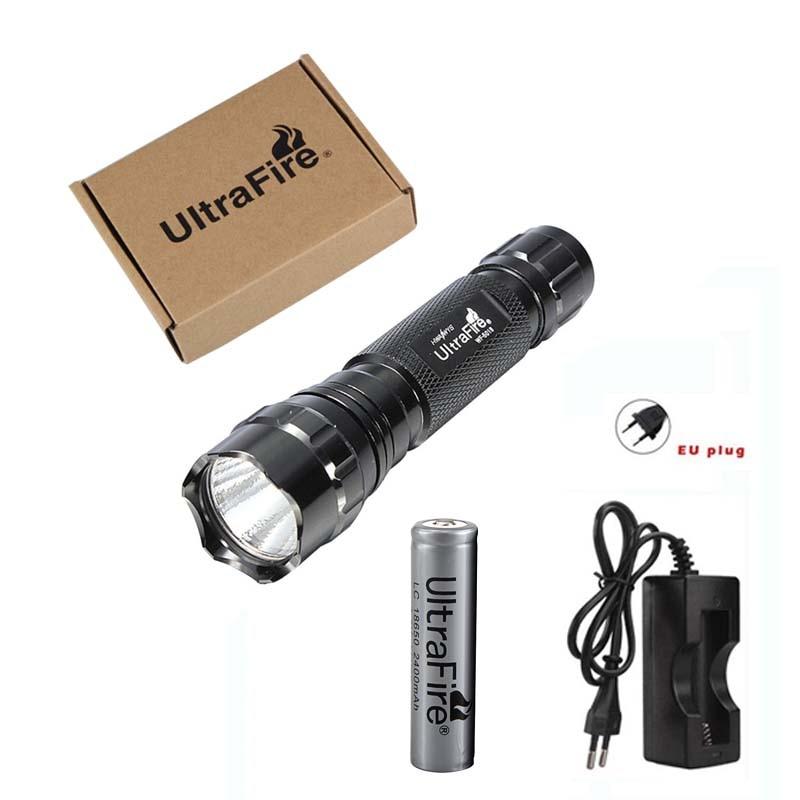 UltraFire High Power LED Flashlight XML-T6 Waterproof Camping Light 5 Mode Torch Lantern Flash Tactical Flashlight 18650 Battery